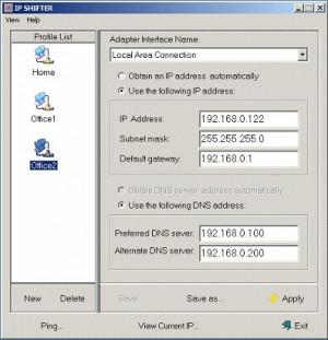 IP Shifter - náhled