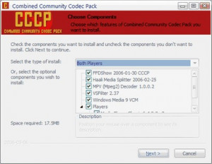 Combined Community Codec Pack - náhled