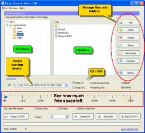 Free Create-Burn ISO - náhled