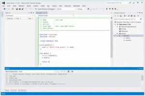Visual Studio Express - náhled