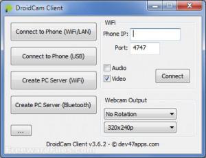 DroidCam - náhled