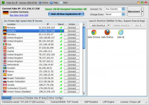 Hide ALL IP - náhled