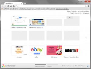 Cent Browser - náhled