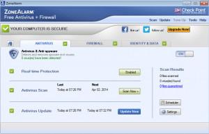 ZoneAlarm Free Antivirus + Firewall - náhled