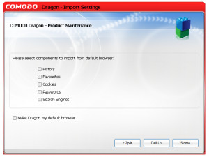 Comodo Dragon - náhled