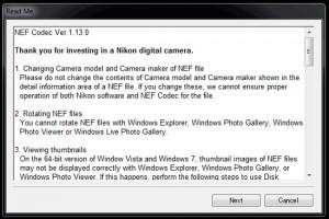 Nikon NEF Codec - náhled