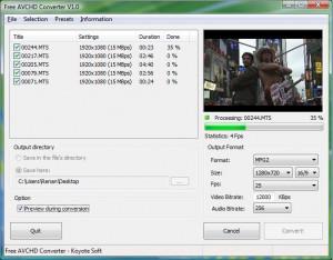 Free AVCHD Converter - náhled