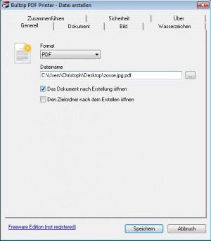 PDF Printer - náhled