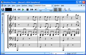 Notation Player - náhled