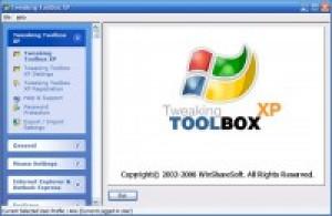 Tweaking Toolbox XP - náhled
