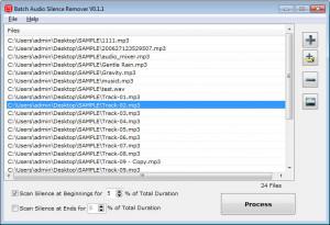 Batch Audio Silence Remover - náhled
