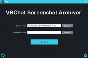 VRChat Screenshot Archiver - náhled