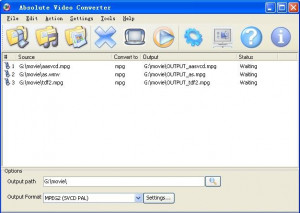 Absolute Video Converter - náhled
