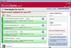RadarSync 2007 - náhled