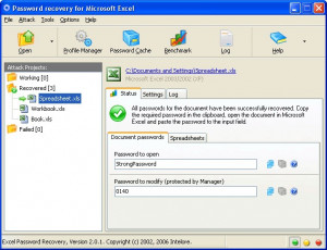 Excel Password Recovery - náhled