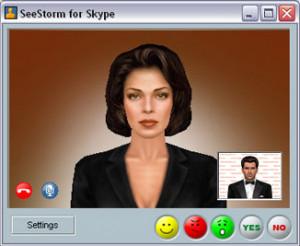 SeeStorm for Skype - náhled