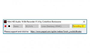 Mini HD Audio 16 Bit Recorder - náhled