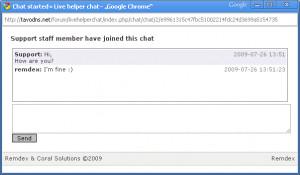 Live Helper Chat - náhled