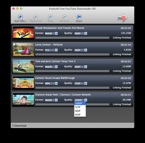 Free YouTube Downloader HD for Mac - náhled