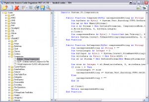 Source Code Organizer NET - náhled
