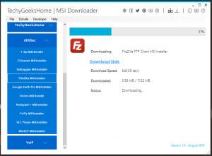 MSI Downloader - náhled