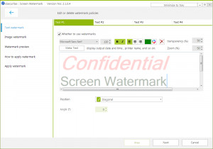 Screen Watermark - náhled