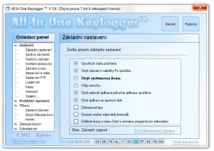 All In One Keylogger - náhled