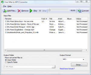 Free M4a to MP3 Converter - náhled