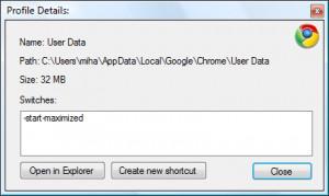 Google Chrome Backup - náhled
