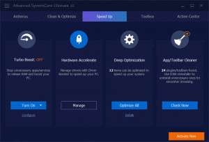 Advanced SystemCare Ultimate - náhled