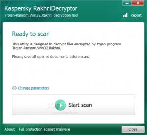 Kaspersky RakhniDecryptor - náhled
