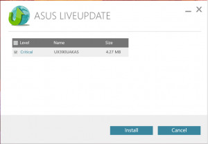 ASUS Live Update - náhled