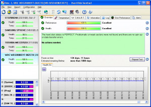 Hard Disk Sentinel Professional - náhled