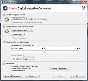 Adobe DNG Converter - náhled