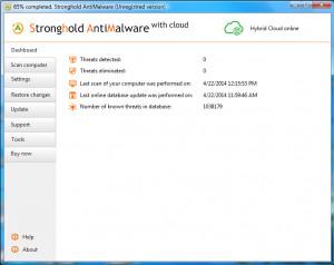Stronghold AntiMalware - náhled