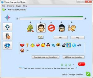 AthTek Skype Voice Changer - náhled