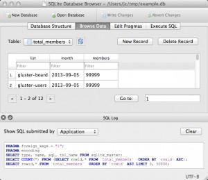 DB Browser for SQLite - náhled