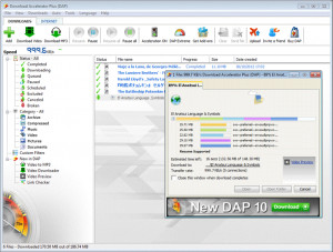 Download Accelerator Plus - náhled