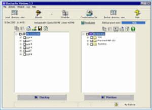 IBackup for Windows - náhled