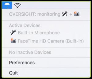 OverSight - náhled