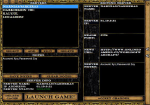 Wow Server Launcher - náhled