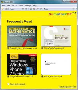 Sumatra PDF - náhled