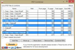 PDF Combiner - náhled