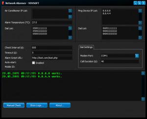 Network Alarmer - náhled