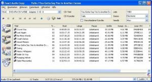 Exact Audio Copy - náhled