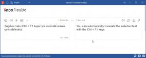 Yandex Translate Desktop - náhled