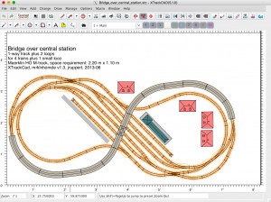 XTrackCAD Model RR Track Planner - náhled