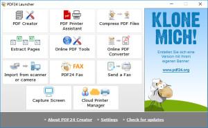 PDF24 Creator - náhled