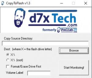 CopyToFlash - náhled