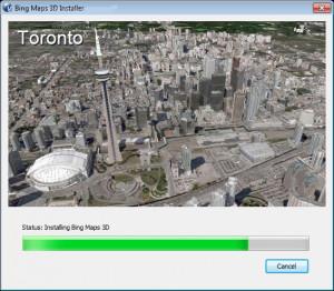 Bing Maps 3D - náhled